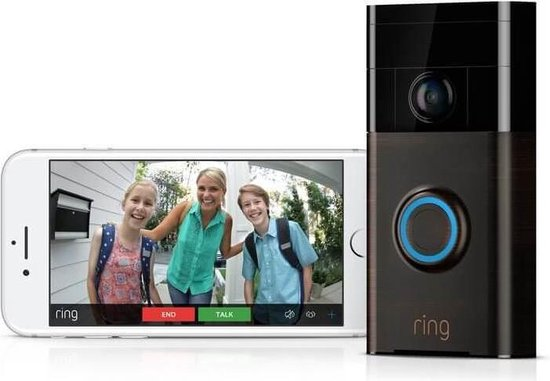 Ring Video Deurbel 1 - Zilver