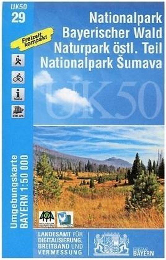 Umgebungskarte Blatt 29 Nationalpark Bayerischer Wald Ost