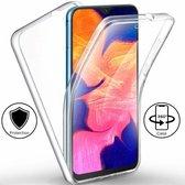 Ntech Samsung Galaxy A10 Dual TPU Hoesje ( Voor en Achter) Transparant