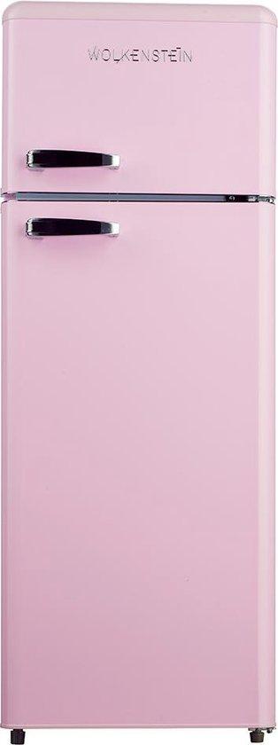 Koelkast: Wolkenstein GK 212.4 RT SP - Compacte Koel-vriescombinatie - Roze, van het merk Wolkenstein