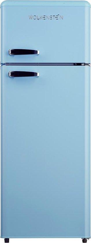 Koelkast: Wolkenstein  GK212.4RT LB - Retro Compacte Koel-vriescombinatie – Lichtblauw, van het merk Wolkenstein