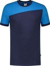 Tricorp T-shirt Bicolor Naden 102006 Ink / Turquoise - Maat XXL