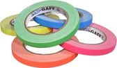 Pro  - Gaff neon gaffa tape 12mm x 22,8m kleuren pakket