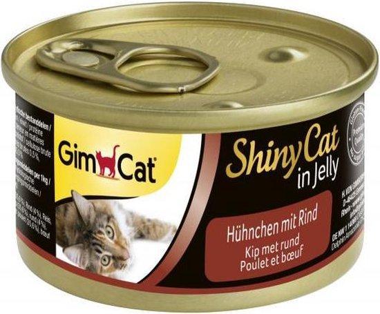Gimcat shinycat in jelly kip / rund kattenvoer 70 gr