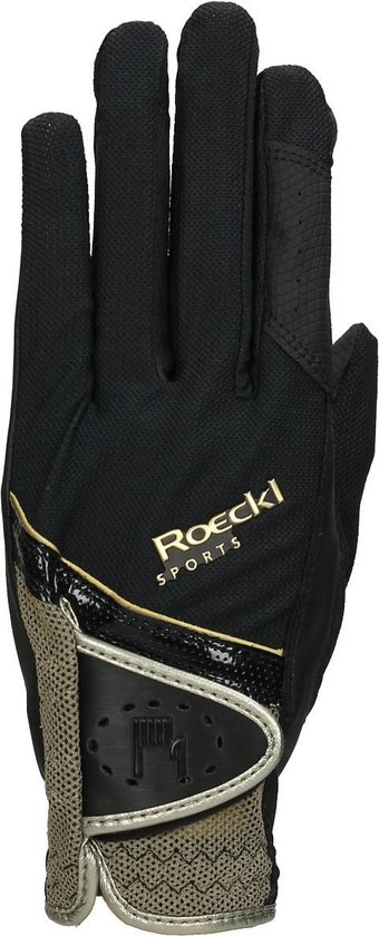 Roeckl Micro Mesh - Handschoenen - Zwart/Goud - mt. 7