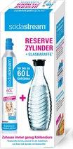 SodaStream Gascilinder en Glazen Drinkfles - Enkel voor Sodastream Crystal - 60 l + 0,6 l