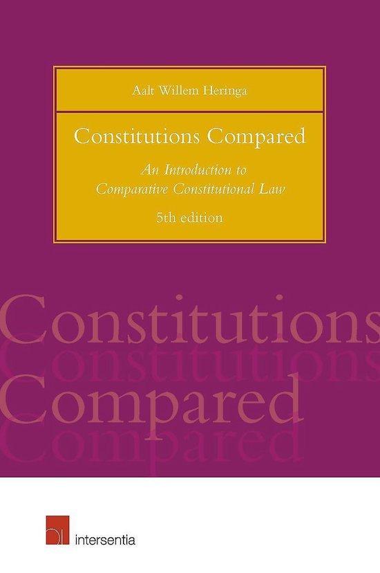 Boek cover Constitutions Compared (5th Edition) van Aalt Willem Heringa (Paperback)