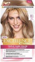 L'Oréal Paris Excellence Crème 8.1 - Licht Asblond - Haarverf