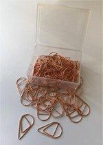 ProductGoods - Paperclips Druppel Koperkleurig -2,5 cm - 50 stuks