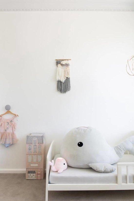 Teeny & Tiny samson de walvis knuffel en lampje Roze Roze