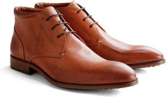 DEN BROECK John St. Leather - Nette halfhoge veterschoen - Cognac