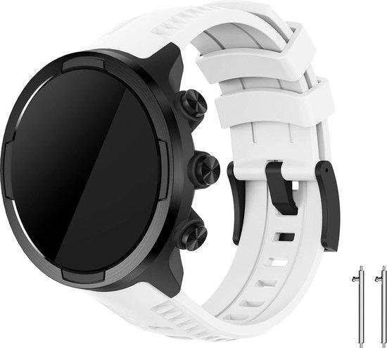 Siliconen Horloge Band Voor Suunto 9 / Spartan Sport Wrist HR Baro - Armband / Polsband / Strap Bandje / Sportband - Wit