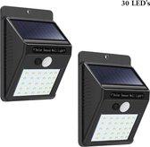 Wandlamp voor buiten -Set van 2 - Werkt op zonne-e