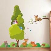 Muursticker bosdieren voor de kinderkamer