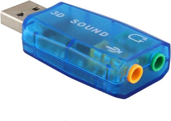 Externe USB (3D) Geluidskaart Adapter - Sound Card - Audio Kaart Dongle - USB 5.1 geluidskaart