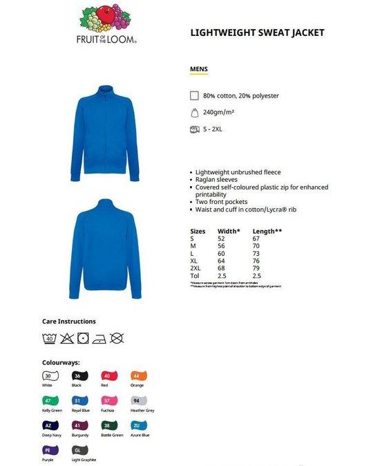 20201 Lichtgewicht Sweat Jacket
