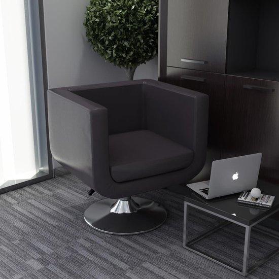 Luxe Lounge Stoel.Bol Com Fauteuil Draaibaar Kunstleer Bruin Loungestoel