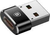 Baseus USB naar USB-C adapter - Zwart