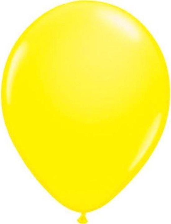 Ballonnen NEON geel 8 stuks