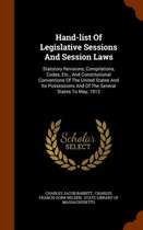 Hand-List of Legislative Sessions and Session Laws