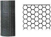 Betafence zeskantgaas verzinkt 100 cm x 25 m maas 13 mm