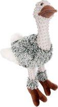 Flamingo Knuffel Emoe - Hondenspeelgoed - 30 cm - Grijs