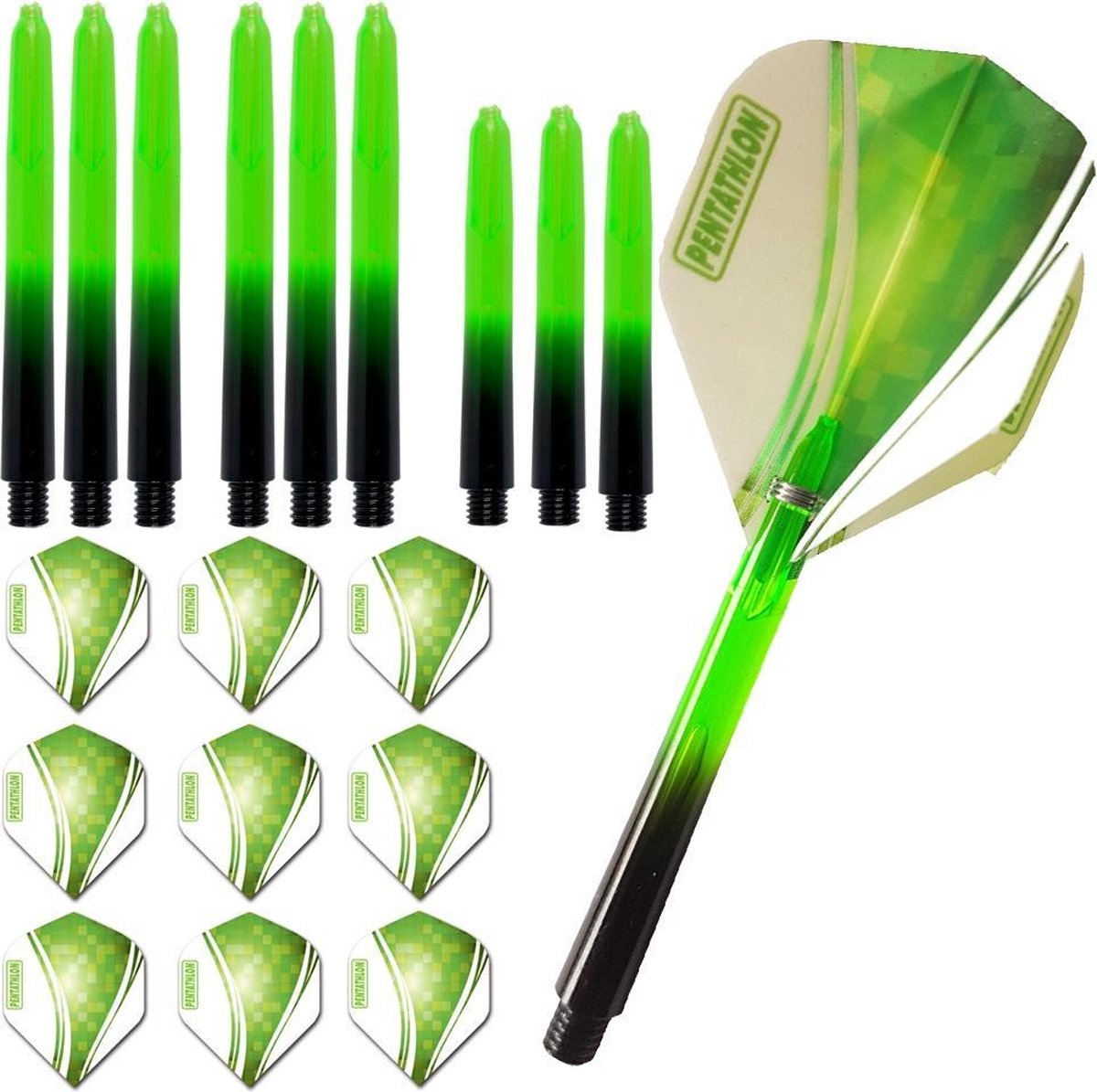 ABC Darts - pentathlon pixel groen combiset