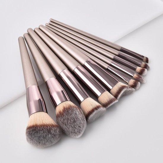 (2 stuks) Make-Up Kwast | Poeder Kwast | Platte Foundation Kwast | Cosmetica Kwast | Gezichtspoeder | Make Up Kwasten | Zachte Kwast | Brush |NU 1 + 1 GRATIS! [ TIJDELIJKE AANBIEDING ] - Premium Commerce