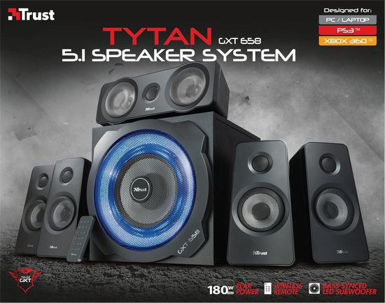 GXT 658 Tytan 5.1 - Surround Gaming Speakerset (PC/PS3/Xbox 360)