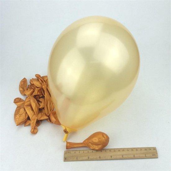 40 Stuks Stevige Ballonnen 23cm - Goud - Feest - Verjaardag - Ballon - Jarig - Party - Multipack - Groot - Glans - Mooi