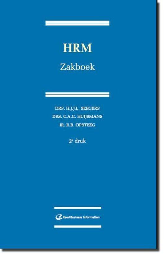 Cover van het boek 'HRM Zakboek / druk 2'