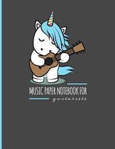 Music Paper Notebook for Guitarists: Guitar Tab Notebook for Composing Songs.