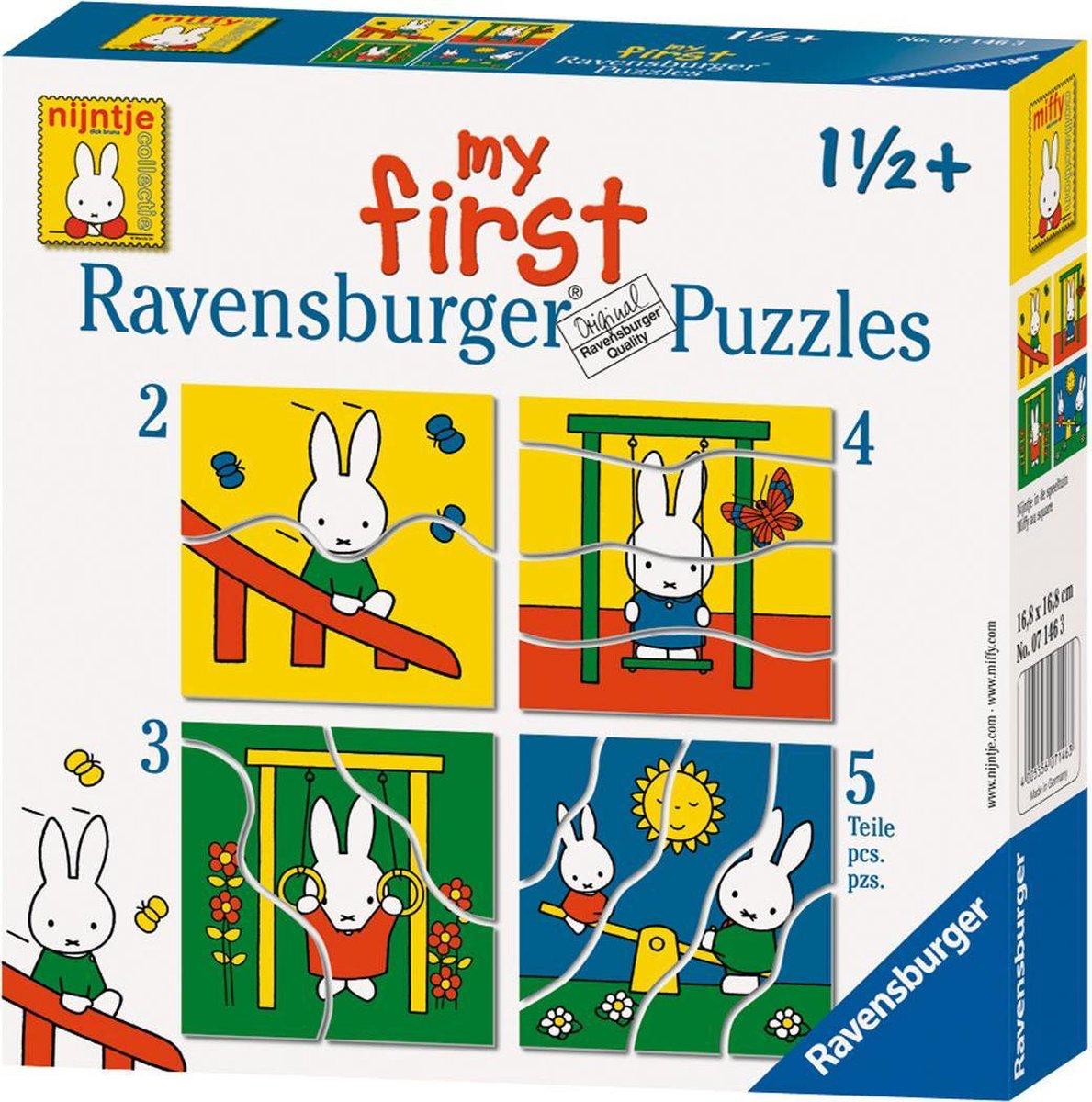 Ravensburger nijntje My first puzzels -2+3+4+5 stukjes - kinderpuzzel