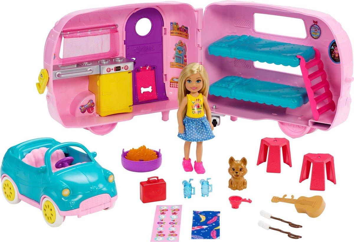Barbie Chelsea Camper Speelset Met Vele Accessoires - Barbiepop