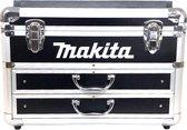 Makita - metalen koffer zwart - 91-delige accessoire set – ruimte voor (accu)boormachine – bits en borenset