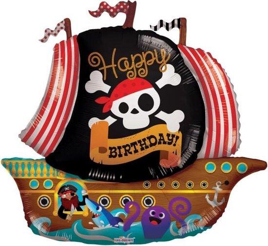 Globos Folieballon Fijne Verjaardag Piraten 92 Cm