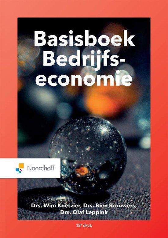 Boek cover Basisboek bedrijfseconomie van M.P. Brouwers (Paperback)