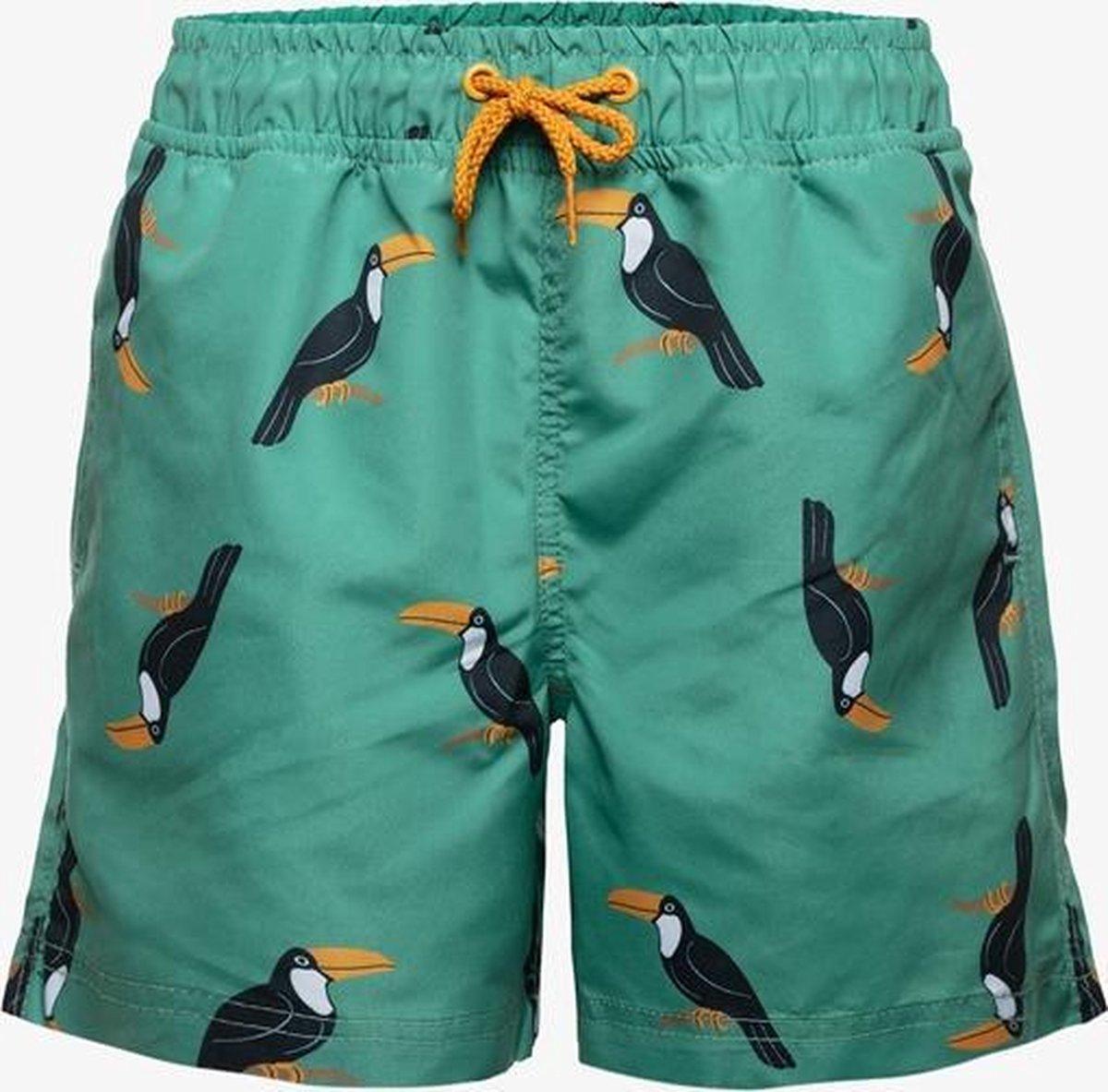 Osaga jongens zwemshort met toekan print - Groen - Maat 140