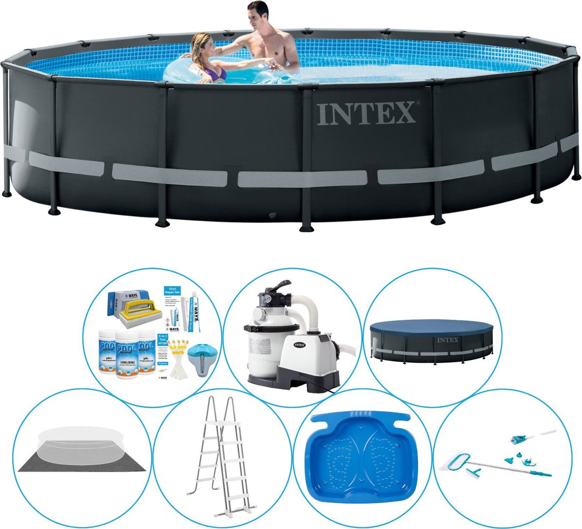 Intex Ultra XTR Frame Rond 488x122 cm - Zwembad Inclusief Accessoires