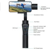 Bovadi® Gimbal S5B 3-Axis mobile Stabilizer met Zoom Control, Auto Tracking
