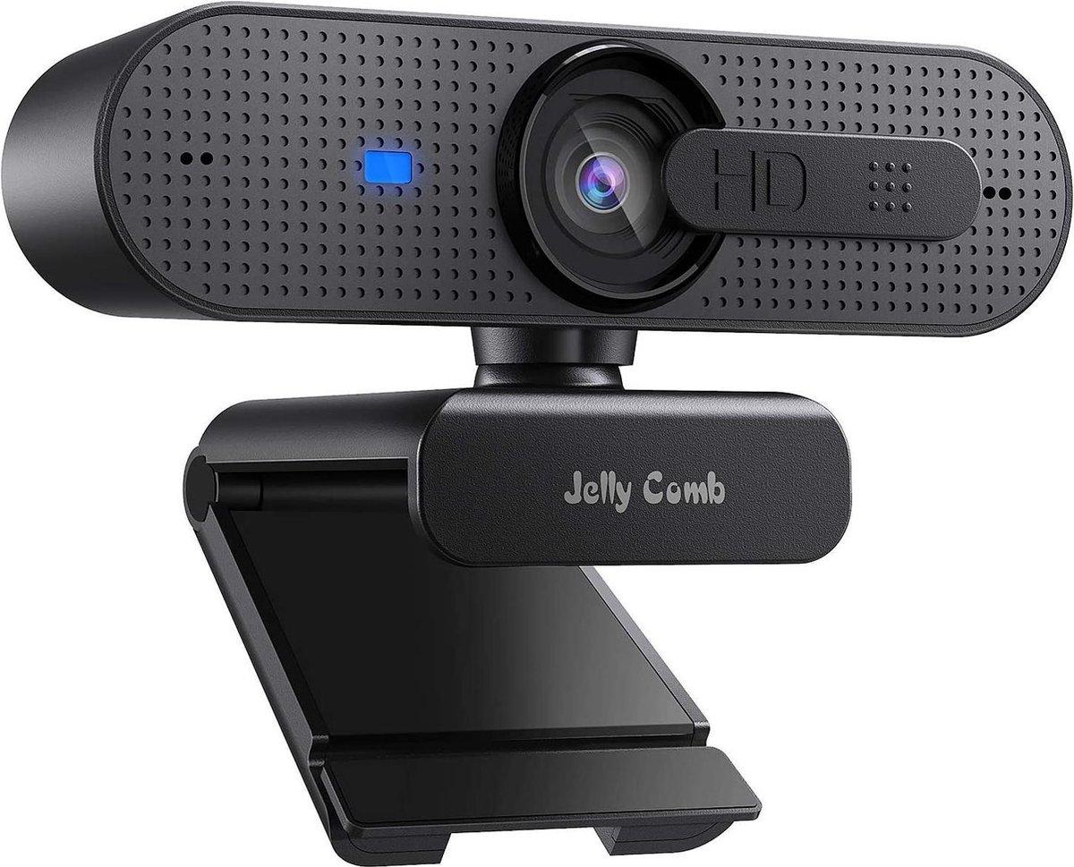 Jelly Comb - HD Webcam - 1080P - Autofocus - Privacy Cover - Dual-Mic