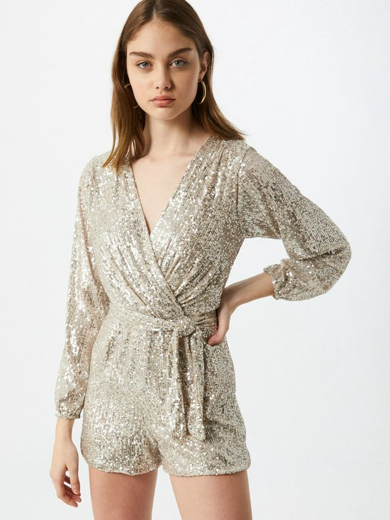 Wal G. jumpsuit Champagne-8 (S)