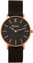 Elysian Horloges voor vrouwen - Rose Goud - Mesh - Roestvrij Staal - Waterdicht 3 Bar - Ø 36mm - Dames Horloge - Valentijnsdag - Valentijn Cadeautje Vrouw