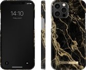 iDeal of Sweden - iPhone 12 Pro Max Hoesje - Fashion Back Case Golden Smoke Marble