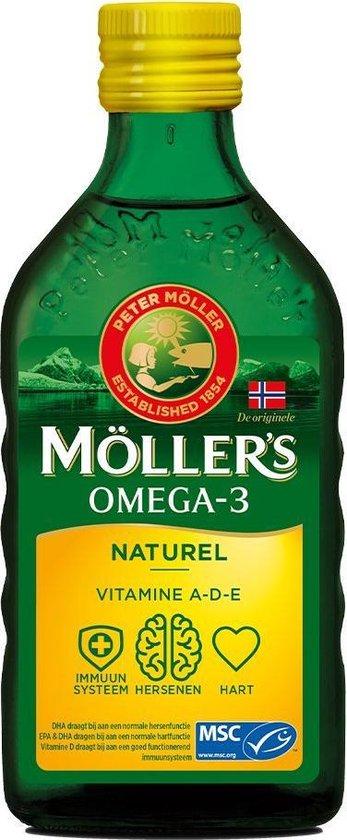 Moller's Omega-3 Naturel - 250 ml - Visolie - Visolie - Voedingssupplement