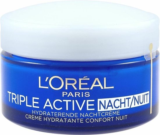 L'Oréal Paris Triple Active Nachtcrème - 50 ml - Hydraterend