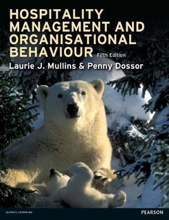 Boek cover Hospitality Management and Organisa van Laurie Mullins (Paperback)