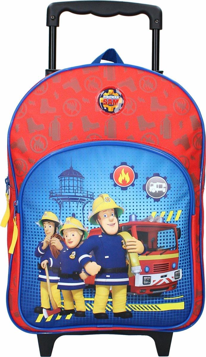 Brandweerman Sam Fire Rescue Rugzak trolley - 17 l - Rood