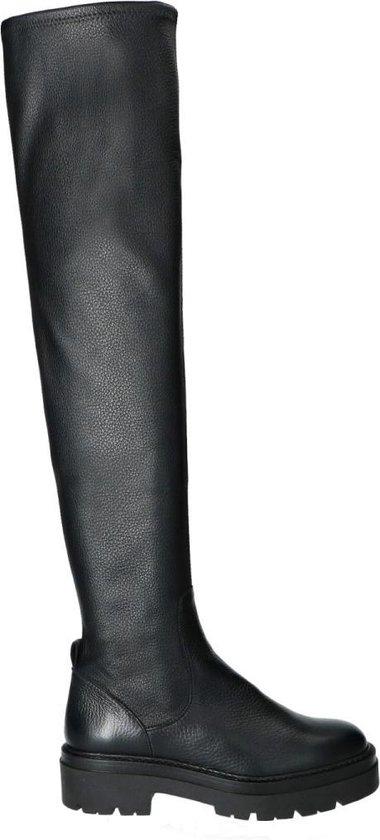 Sacha - Dames - Hoge zwarte chelsea boots - Maat 36