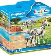 PLAYMOBIL Family Fun Dierenpark  2 zebra's met baby - 70356